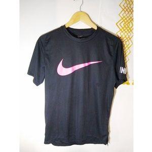 Nike | dri fit pink logo tennis tee